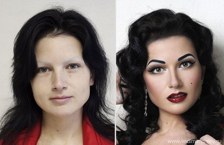 """Ecco alcuni """"prima e dopo"""" di alcune star """"photoshoppate"""" da Vadim Andreev"""