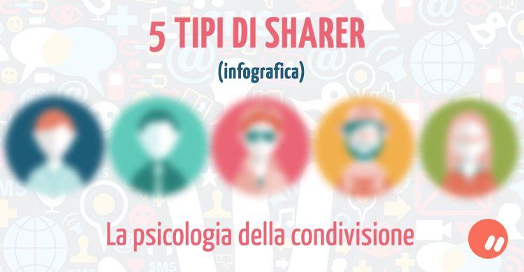 5 tipi di sharer: la psicologia della condivisione | Infografica