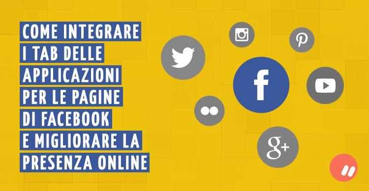 Integrare i tab delle applicazioni per le pagine facebook