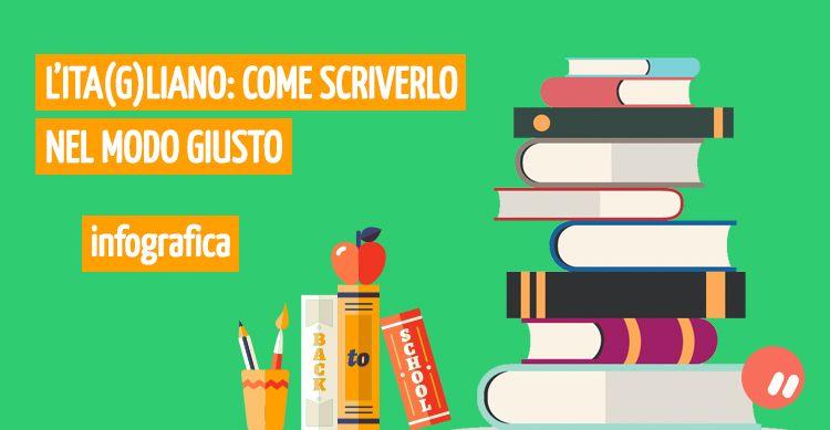 Infografica sulla grammatica italiana