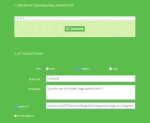 Installare tasto condivisione WhatsApp share button