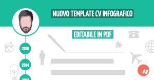 download template cv infografico editabile