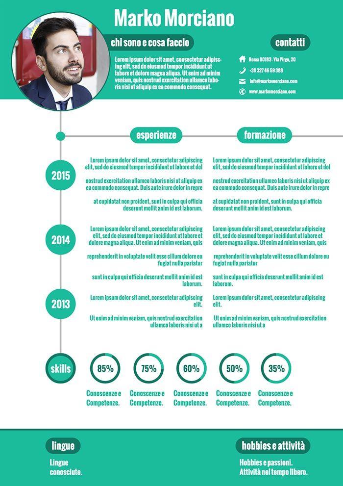 Famoso Il mio regalo di buon anno: nuovo template CV infografico  LB54