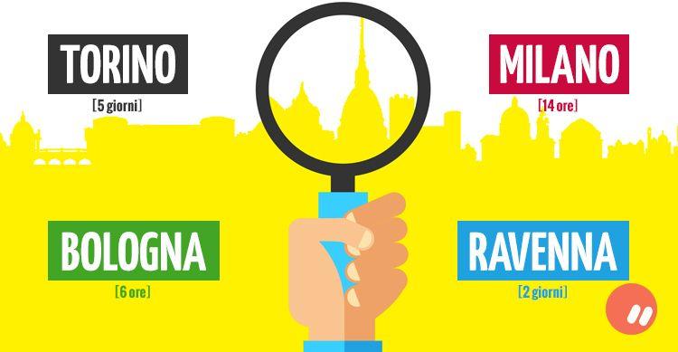 Torino, Milano, Bologna, Ravenna in 23 ore e più