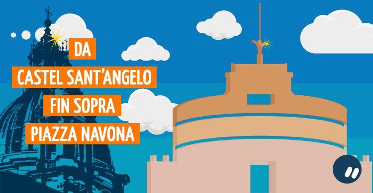 Da Castel Sant'Angelo fino a Piazza Navona dall'alto